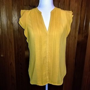 H&M Conscious Yellow Button Blouse.